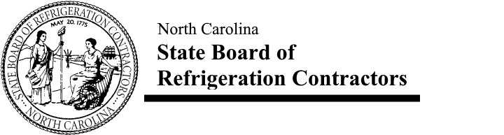 North Carolina State Board of Refrigeration Contractors